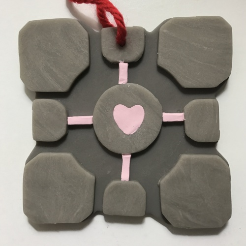 Portal Companion Cube Christmas Tree Ornament